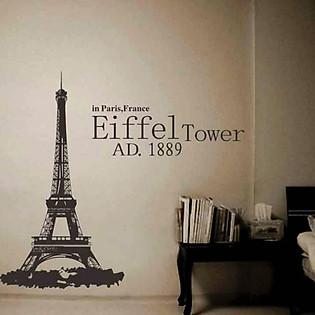 Decal Dán Tường Ninewall Eiffel Tower FH011