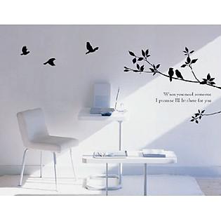 Decal Dán Tường Ninewall Bird Home NB004