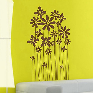 Decal Dán Tường Ninewall Beautiful Flowers NF036