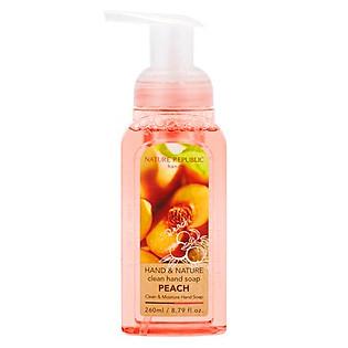 Nước Rửa Tay Nature Republic Hand & Nature Clean Hand Soap-Peach (260Ml)