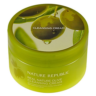 Kem Tẩy Trang Nature Republic Real Nature Olive Cleansing Cream(R) (200Ml)