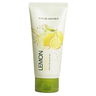 Gel Rửa Mặt Chiết Xuất Chanh Tươi Nature Republic Real Nature Lemon Peeling Gel Wash (120Ml)
