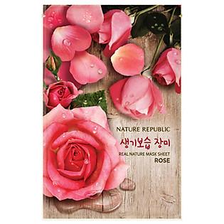 Mặt Nạ Đắp Chiết Xuất Hoa Hồng Nature Republic Real Nature Rose Mask Sheet