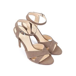 Giày Sandal Cao Gót 9Cm Quai Ngang Juno SD09013 - Nâu