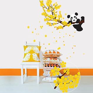 Decal Dán Tường Ninewall Spring With Panda NB026
