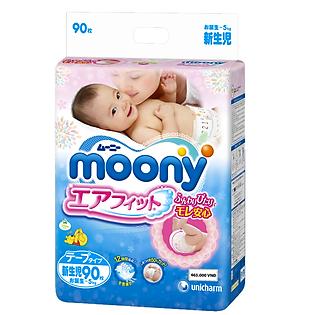 Tã Giấy Moony NB90