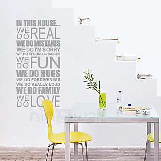 Decal Dán Tường Ninewall In The House… TW016
