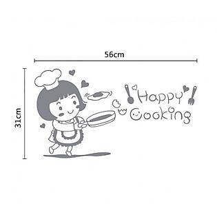 Decal Dán Tường Ninewall Happy Cooking NOV3