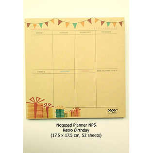 Notepad Planner Retro Birthday - NP5