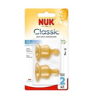 Phụ Kiện Bình Uống Thay Bình Sữa Cao Su Số 2 Đôi (L) Nuk- 713006