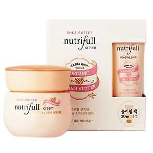 Kem Dưỡng Ẩm Mềm Mịn Da Nutrifull Shea Butter Cream (Gift Sleeping Pack 20Ml) Etude 60Ml