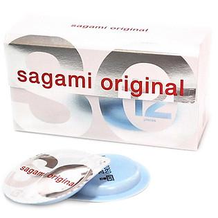 Bao Cao Su Sagami Original 0.02 - Hộp 12 Bao