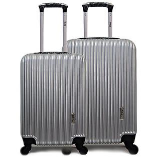 [Set 2 Vali (Size 50-60)] Vali Du Lịch Cao Cấp Trip- P315- Bạc