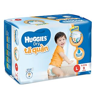 Tã Quần Huggies Dry Pant Gói Nhỏ Size L (9 Miếng)