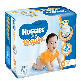 Tã Quần Huggies Dry Pant Gói Trung Size M (22 Miếng)