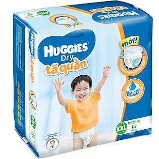 Tã Quần Huggies Dry Pants Gói Trung Size XXL (16 Miếng)