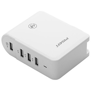 Sạc 4 Cổng Pisen USB Charger Smart 4 Port