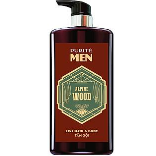 Sữa Tắm Gội Hương Gỗ Alpine Wood 2In1 Hair & Body - Purite By Provence 850Ml