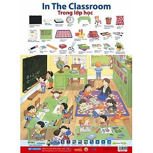 Poster 2 Mặt - Trong Lớp Học + Chữ Số 1-10