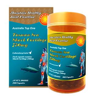 Thực Phẩm Chức Năng Viên Uống Sụn Cá Mập WEALTHY HEALTH Tasman Sea Shark Cartilage 750Mg - GIC (100 Viên)