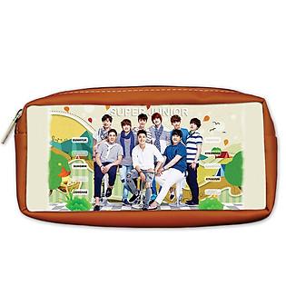 Bóp Viết PS Super Junior Màu Nâu Da Bò PSBOKP9-DB