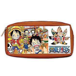 Bóp Viết PS One Piece Màu Nâu Da Bò PSBOMAOP11-DB