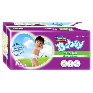 Tã Quần Bobby Pants Gói Lớn Size M (40 Miếng)
