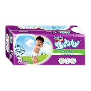 Tã Quần Bobby Pants Gói Lớn Size XL (32 Miếng)