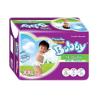 Tã Quần Bobby Pants Gói Lớn Size XXL (28 Miếng)