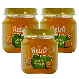 Combo 3 Hủ Gel Trái Cây Mùa Hè Heinz A/A (110G)