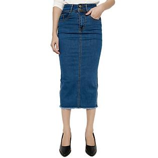 Chân Váy Jean Dài Labelle SK17 - Xanh Jean