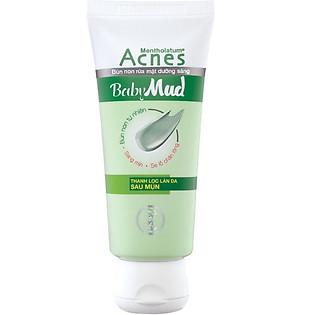Kem Rửa Mặt Bùn Non Rohto Acnes Baby Mud - 100G