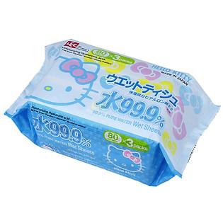 Giấy Ướt Nước Tinh Khiết 99.9% LEC Hello Kitty SS232