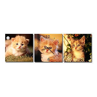 Tranh Đồng Hồ Suemall DV12141 - Mèo Xinh