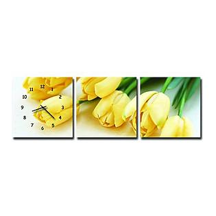 Tranh Đồng Hồ Suemall HL1233 - Tulip Vàng