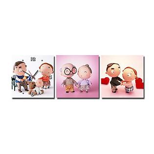 Tranh Đồng Hồ Suemall TY1299 - Family