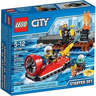 Mô Hình LEGO City Fire – Bộ Cứu Hỏa Khởi Đầu 60106 (90 Mảnh Ghép)