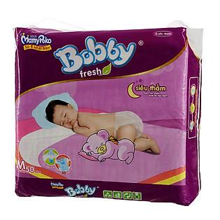 Tã Bobby Fresh Siêu Thấm Jumbo Size M (50 Miếng)