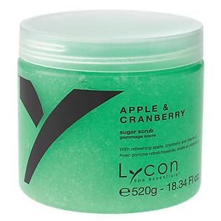 Tẩy Tế Bào Chết Đường Táo & Việt Quất LYCON Apple & Cranberry Sugar Scrub (520G)