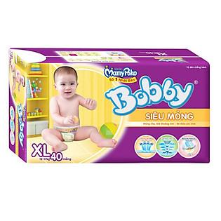 Tã Bobby Fresh Siêu Mỏng Jumbo Size XL (40 Miếng)