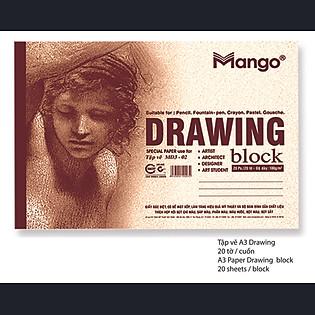 Tập Vẽ A3 Drawing MANGO - TVA3 DR