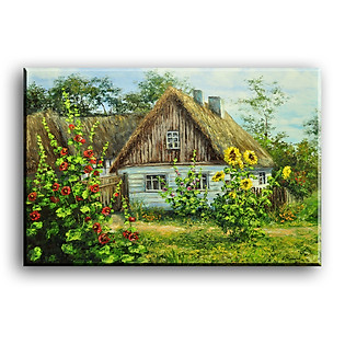 Tranh Canvas Vicdecor TCV0008 Ngôi Nhà Nhỏ 1