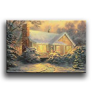 Tranh Canvas Vicdecor TCV0016 Ngôi Nhà Gỗ