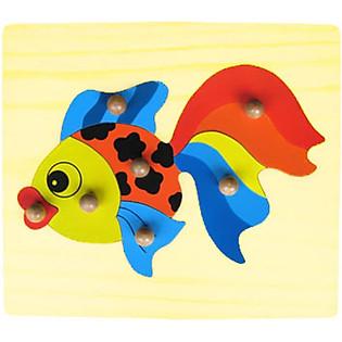 Đồ Chơi Vietoys Tranh Ghép Cá Vàng Có Chốt VT3P-0129