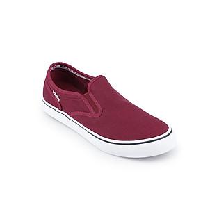 Giày Slip On Unisex Tuvi'S TVS-09-C84 - Đỏ Đô