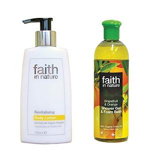 Bộ Sữa Tắm Làm Sáng Da Vitamin E Faith In Nature Tiết Kiệm 30% - Combo028