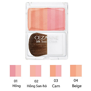 Phấn Má Silk Touch Cheek Cezanne (4G)