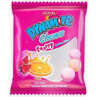 Kẹo Dynamite Chew Hương Trái Cây Có Nhân Gói 125G