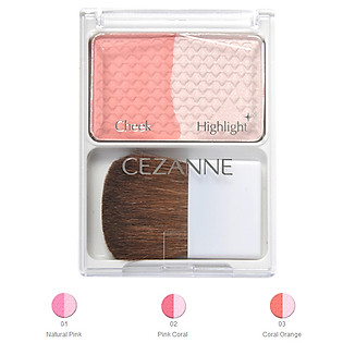 Phấn Má Cheek & Highlight Cezanne (4G)
