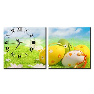 Tranh Đồng Hồ Vicdecor DHT0092 - Trứng Phục Sinh 2